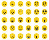 Emojis. This is a set of Yellow Emojis Royalty Free Stock Photography