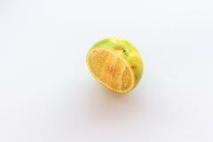Emon-Frucht mit Hälfte Lizenzfreie Stockbilder