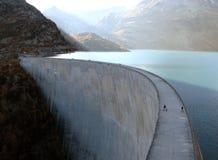 Emosson Verdammung, die Schweiz Lizenzfreies Stockfoto