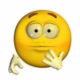 Emoticon - überrascht Lizenzfreies Stockbild