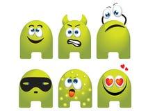 emoticon θέστε Στοκ Φωτογραφία