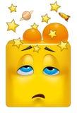 Emoticon που χτυπιέται τετραγωνικό ελεύθερη απεικόνιση δικαιώματος