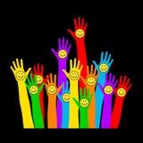 Emoticon στο φοίνικα Διανυσματική απεικόνιση, μια ένωση, ενότητα, συνεργάτες, επιχείρηση, φιλία Στοκ Εικόνες