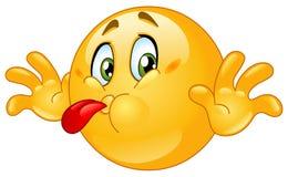emoticon вне говорит с насмешкой Стоковое Изображение RF