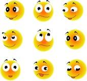 emoticon Значки стороны улыбки стиля вектора Стоковое фото RF
