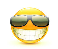 Emoticon. Vector illustration of cool glossy Single Emoticon Stock Image