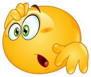 Изумленный emoticon Стоковое Изображение RF
