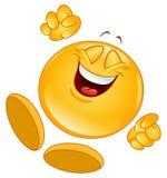 Emoticon alegre Fotografía de archivo
