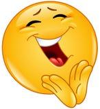 Emoticon alegre que aplaude Imagenes de archivo