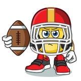 Emoticon America kreskówki futbolowa wektorowa ilustracja royalty ilustracja