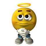Emoticon angel Royalty Free Stock Photos