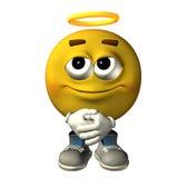 Emoticon angel Royalty Free Stock Photos