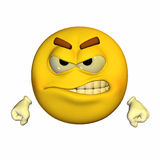 Emoticon - Angry Stock Photo