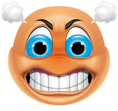 Emoticon angry Royalty Free Stock Photography