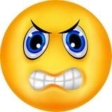 Emoticon arrabbiato Fotografia Stock