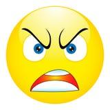 Emoticon arrabbiato, il emoji, smiley - vector l'illustrazione Immagine Stock Libera da Diritti