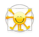 Vitruvian Emoticon Royalty Free Stock Image
