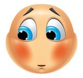 Emoticon ashamed Stock Photos