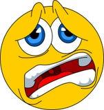 Emoticon asustado Foto de archivo libre de regalías