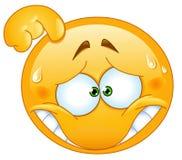 Emoticon avergonzado Foto de archivo libre de regalías