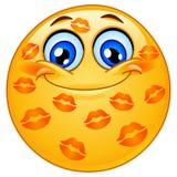 Emoticon baciato Fotografie Stock Libere da Diritti