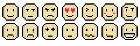 Emoticon-Blatt lizenzfreie abbildung