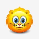 Emoticon bonito de leo, emoji - sinal astrológico - horóscopo - zodíaco - vector a ilustração ilustração stock
