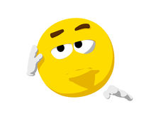 Emoticon Bored Stock Photo