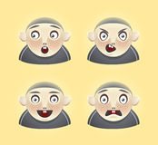 Emoticon boy. 4 different emotions of one cartoon character (AI8 included Stock Images