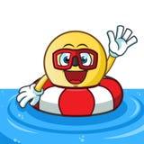 Emoticon buoy mascot vector cartoon illustration. This is an original character Stock Photo