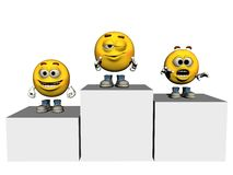 Emoticon Champions. A rendered image of some 3d emoticons Stock Images