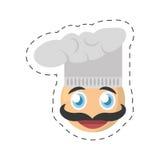 emoticon chef comic image Royalty Free Stock Photo