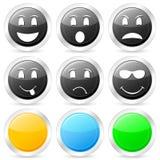 Emoticon circle icon set 2 Royalty Free Stock Images