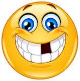 Emoticon com dentes faltantes ilustração stock