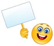 Emoticon con il segno Fotografia Stock