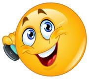 Emoticon con il telefono delle cellule Fotografie Stock Libere da Diritti