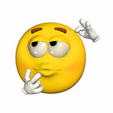 Emoticon - Confused. Emoticon yellow guy - confused expression Stock Images