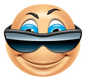 Emoticon cool Royalty Free Stock Image
