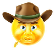 Emoticon Cowboy Royalty Free Stock Photos