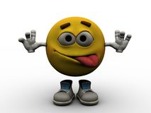 Emoticon - crazy Stock Image