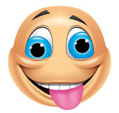 Emoticon crazy Royalty Free Stock Photos