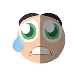 Emoticon cry cartoon design. Illustration eps 10 Royalty Free Stock Photos