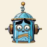 Emoticon cry emoji robot head smiley emotion Stock Photography