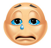 Emoticon crying Royalty Free Stock Images