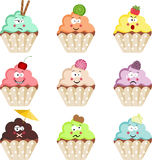 Emoticon Cupcakes Stock Image