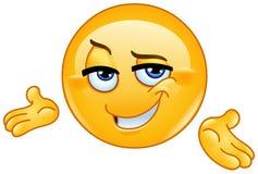 Emoticon de apresentação seguro Foto de Stock Royalty Free