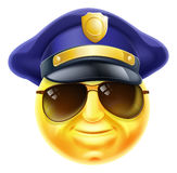 Emoticon de Emoji da polícia Fotografia de Stock Royalty Free