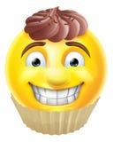 Emoticon de Emoji de la torta de chocolate ilustración del vector