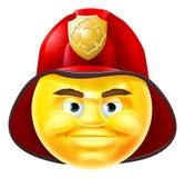 Emoticon de Emoji del bombero Fotografía de archivo libre de regalías