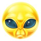 Emoticon de Emoji del extranjero Foto de archivo libre de regalías